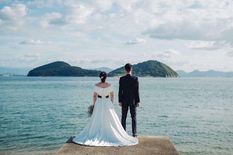 #ビーチフォト #瀬戸内海|結婚式ならBRAPLA|ブラプラ|
