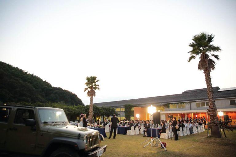 #ガーデンパーティ #ナイトパーティ 結婚式ならBRAPLA ブラプラ 