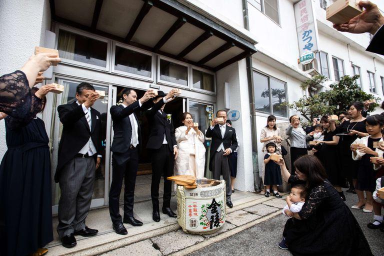 #自宅婚 #旅館ウエディング #鏡開き 結婚式ならBRAPLA ブラプラ 