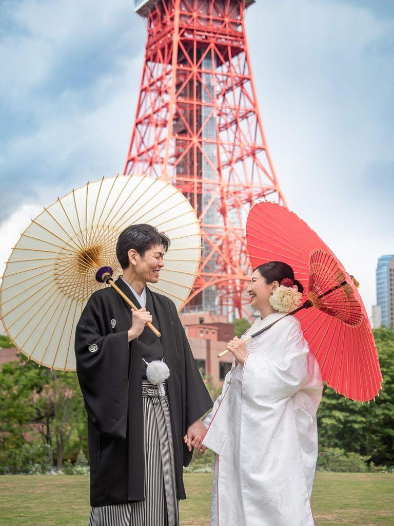 #和装 #白無垢 #番傘 #東京タワー|フリープランナーならBRAPLA|ブラプラ|