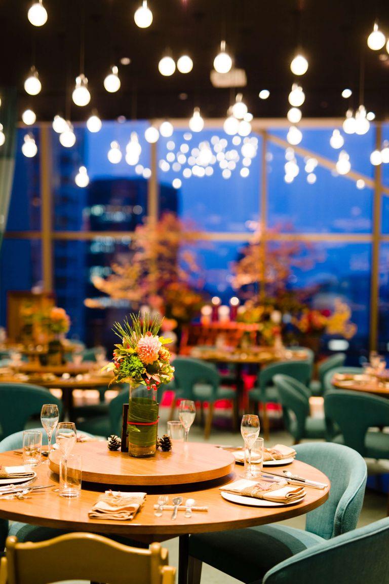 #会場装飾 #テーブル装花|ウェディングならBRAPLA|ブラプラ|