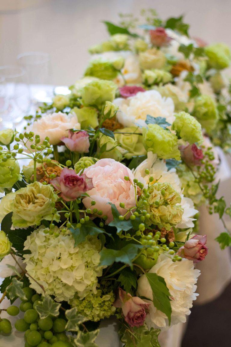 #メインテーブル装花 結婚式ならBRAPLA ブラプラ 