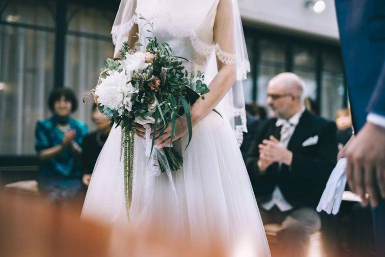 #ブーケ #ブライダルブーケ #クラシカル #バラ #ダリア|結婚式ならBRAPLA|ブラプラ|