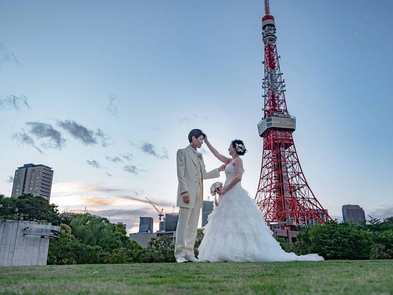 #ウェディングドレス #ガーデン #東京タワー|フリーランスのプランナーならBRAPLA|ブラプラ|